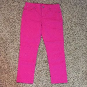 Loft Hot Pink Signature Crop Pant